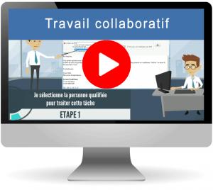 Vidéo travail collaboratif à travers un logiciel CRM