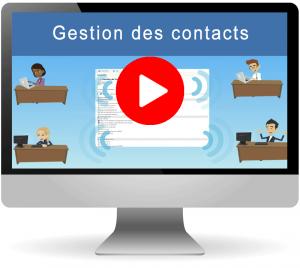 Vidéo gestion des contacts dans le logiciel CRM
