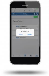 Le clic to call vous permet de numéroter automatiquement à partir de la fiche d'un contact