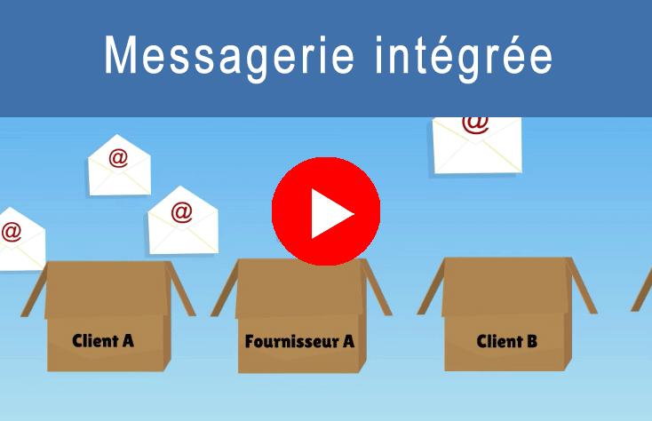 Vidéo Logiciel CRM avec messagerie intégrée