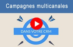 Vidéo campagnes multicanales dans le logiciel Customer relationship management